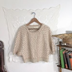Moth gold sweater cape, wool blend